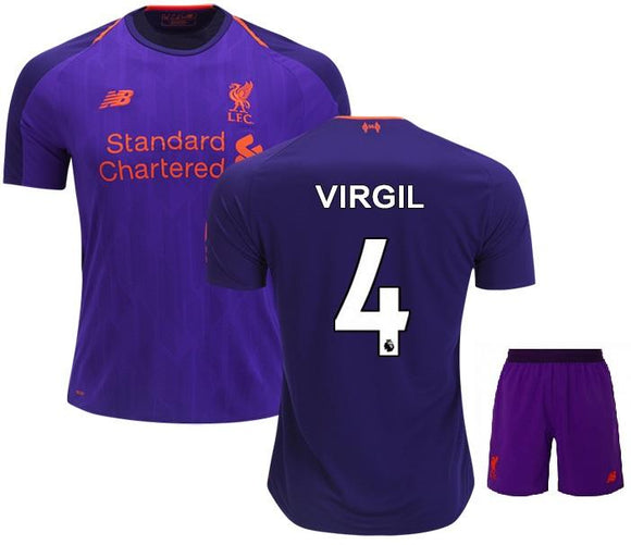 Original Virgil Liverpool Premium Away Jersey & Shorts [Optional] 2018-19