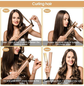 2 in 1 Hair Straightener & Curler