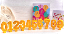 Load image into Gallery viewer, Beeswax Birthday Candles