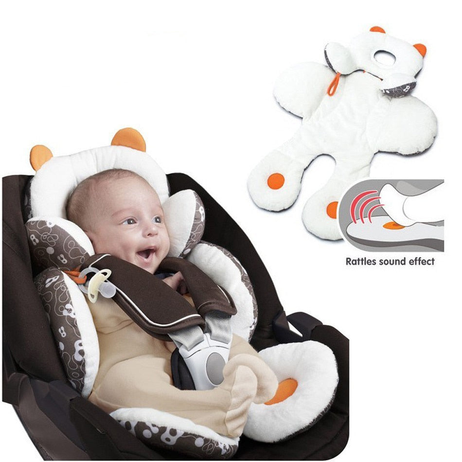Fluffy car seat padding for babies