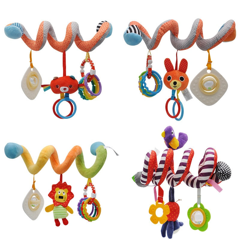 Spiral Animal hanging toy for strollers