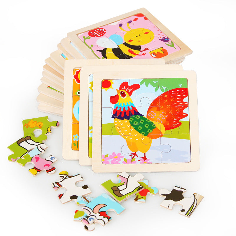 Mini cartoon puzzle for children