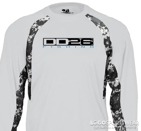 DD26 Long Sleeve Camo Digital Dye Subliminated Shir
