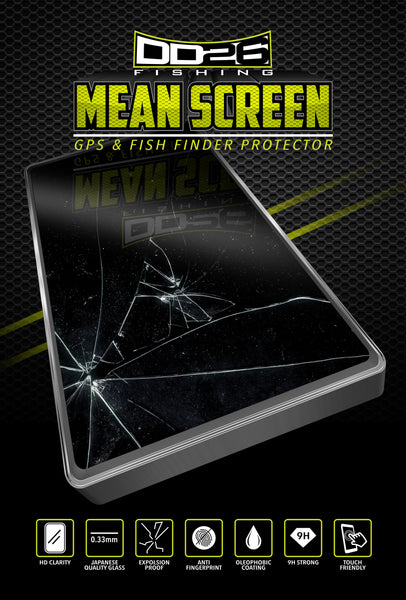 DD26 Fishing Mean Screen Anti Glare tempered glass that fits the Lowrance Live 12