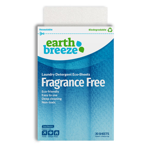 Earth Breeze Eco-Strips Laundry Detergent (Fragrance Free) - 30 Loads