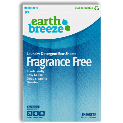 Earth Breeze Eco-strips Laundry Detergent (Fragrance Free) - 30 Loads - Earth Breeze