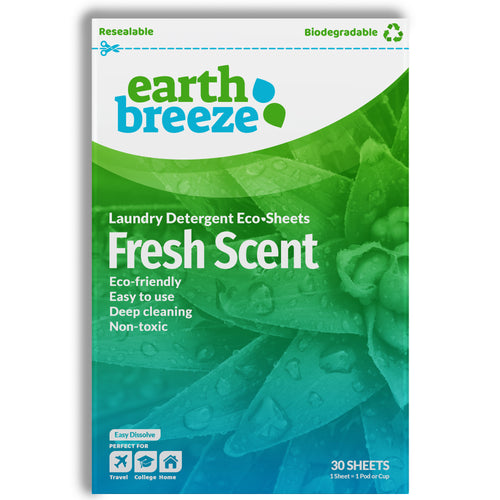 Earth Breeze Eco-strips Laundry Detergent (Fresh Scent) - 30 Loads - Earth Breeze