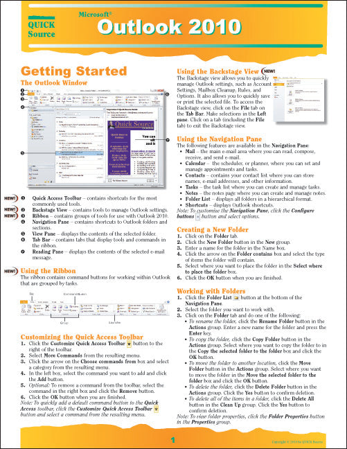 Outlook 2010 Quick Source Guide PDF