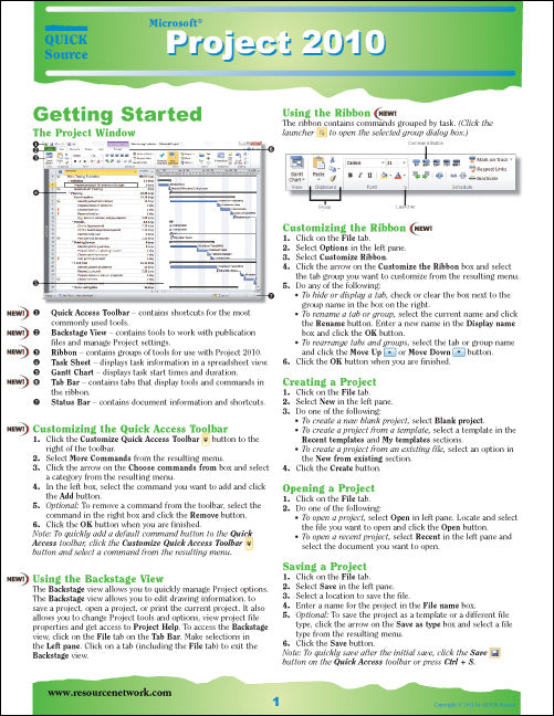 Project 2010 Quick Source Guide PDF