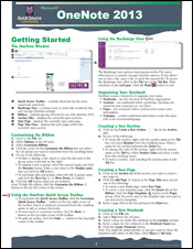 OneNote 2013 Quick Source Guide
