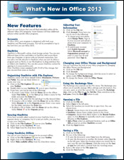 What's New in Office 2013 Quick Source Guide