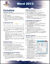 Word 2013 Advanced Quick Source Guide PDF