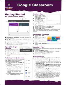 Google Classroom Quick Source Guide PDF - Quick Source Learning