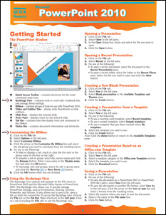 PowerPoint 2010 Quick Source Guide