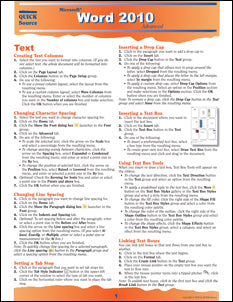 Word 2010 Advanced Quick Source Guide PDF