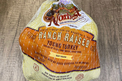 Turkey - whole young ranch raised, uncooked (7-8 lbs.)