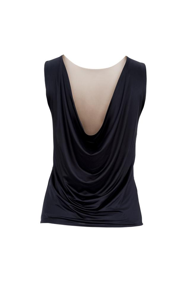 Joy top Revers - Champ/Black