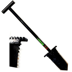 "Anaconda NX-5 Tempered Steel 31"" Shovel w/ Double Serrated Blade & Foot Pegs"