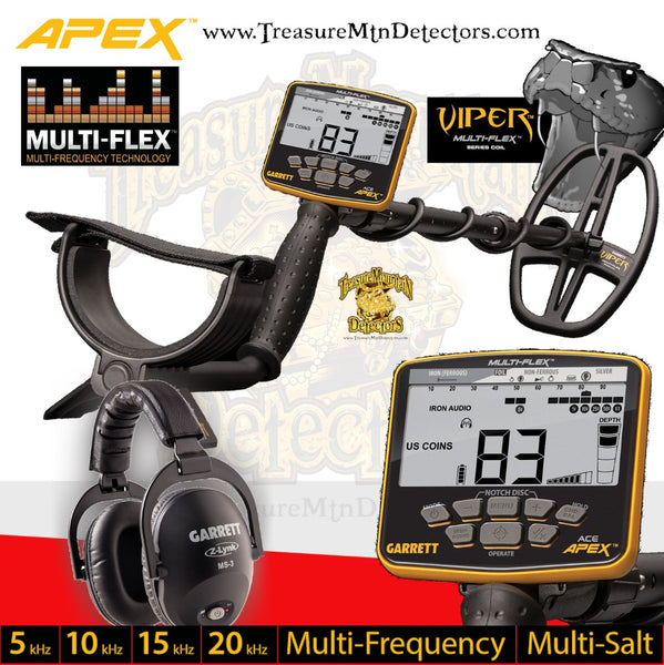 Garrett Apex Metal Detector / Wireless Package