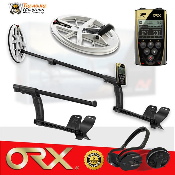 "XP ORX Metal Detector w/ WSAudio Wireless Headphones and 9.5"" Elliptical DD Coil"