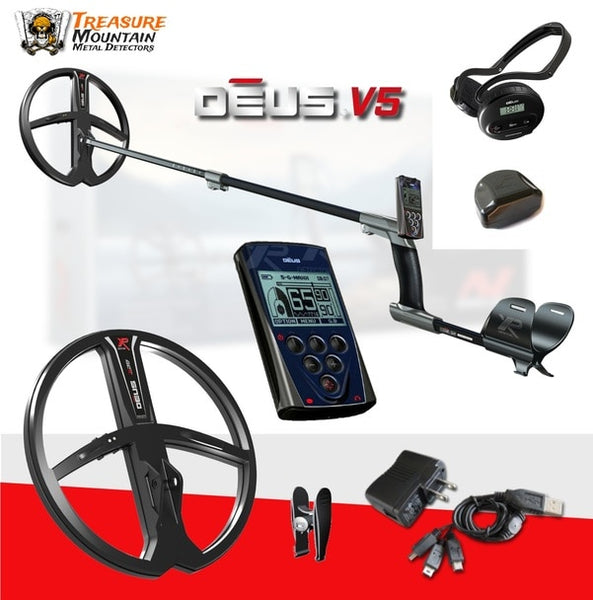 "XP Deus Metal Detector with WS4 Backphones - Your Choice 9"" DD X35 Coil or 11"" DD X35 Coil"