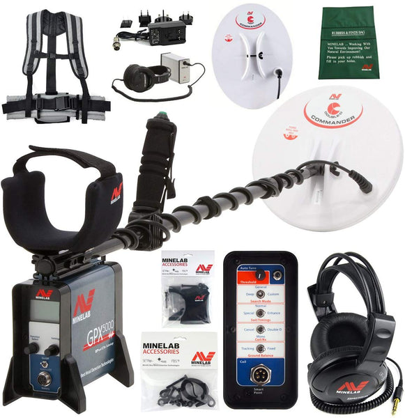 Minelab GPX 5000 Gold Detector Bundle with 2 Search Coils and Extras