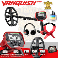 Minelab Vanquish 440 Metal Detector with FREE Pro-Find 15 Pinpointer