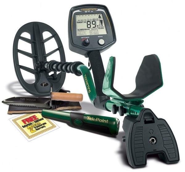 Teknetics T2+ Metal Detector with Tek-Point Pinpointer and Digger Digging Tool