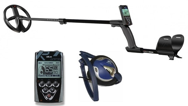 "XP Deus Metal Detector with FX-02 Wired Backphone, Remote and 9"" X35 Search Coil"
