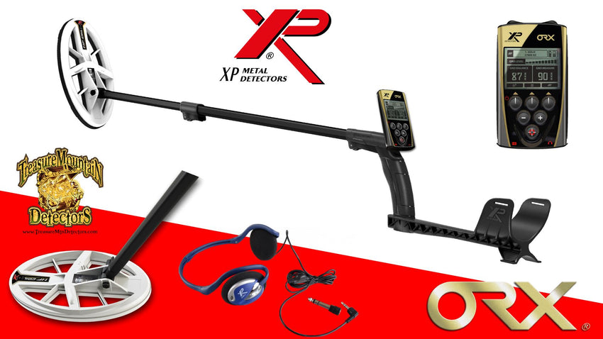 "XP ORX Metal Detector W/ FX-02 Headphones And 9.5"" Elliptical DD Coil"