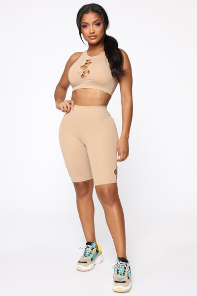 Dating Gym Crop Top & Biker Short