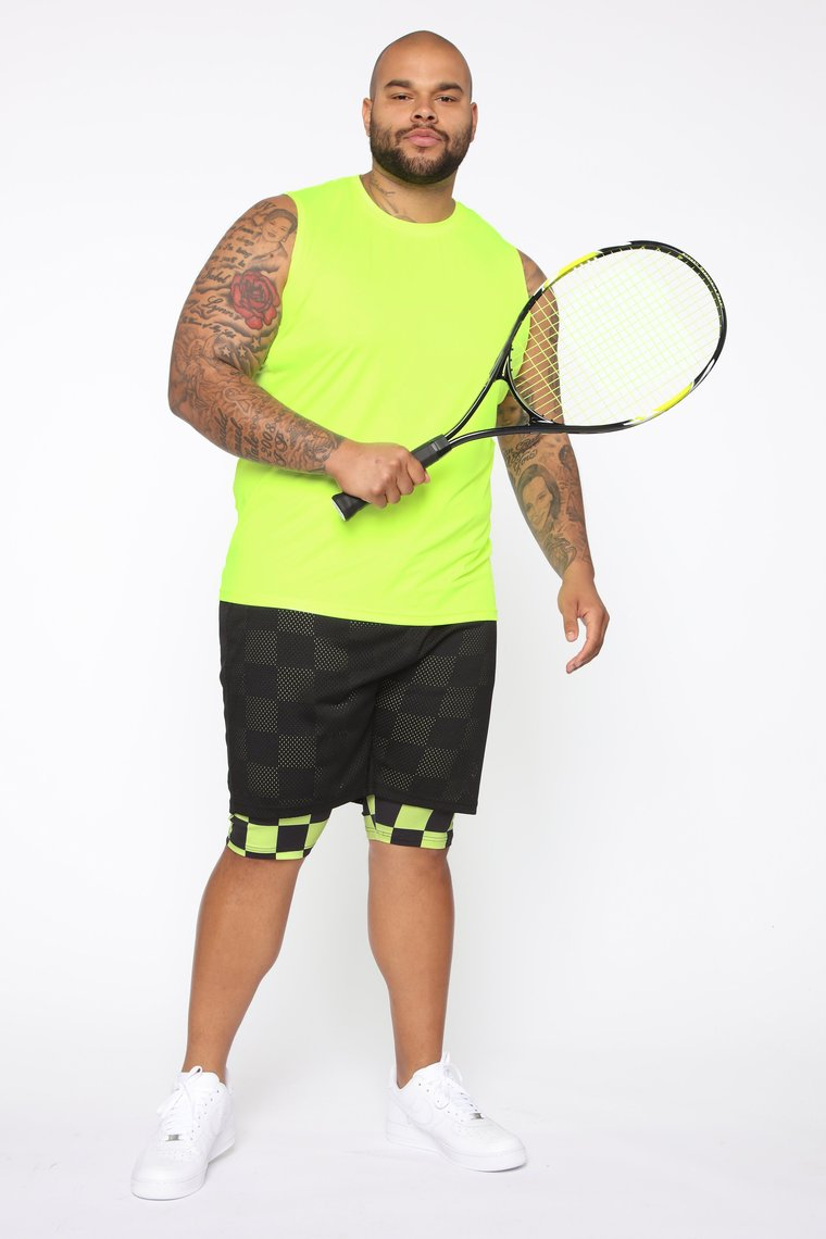 Wellingtonactive Black/Neon Yellow Men Short Nigeria