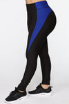 Premium Active Leggings - Black/Royal