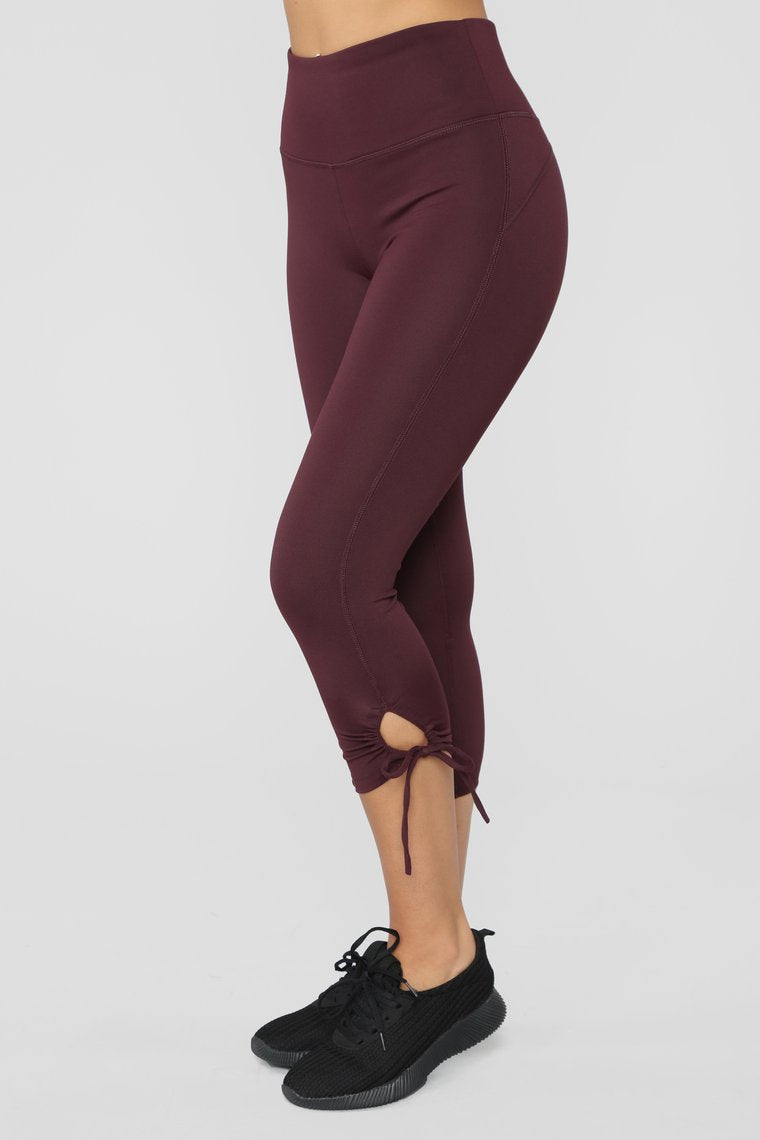 Work With Performance Leggings - Plum