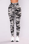 Camo Leggings - Grey