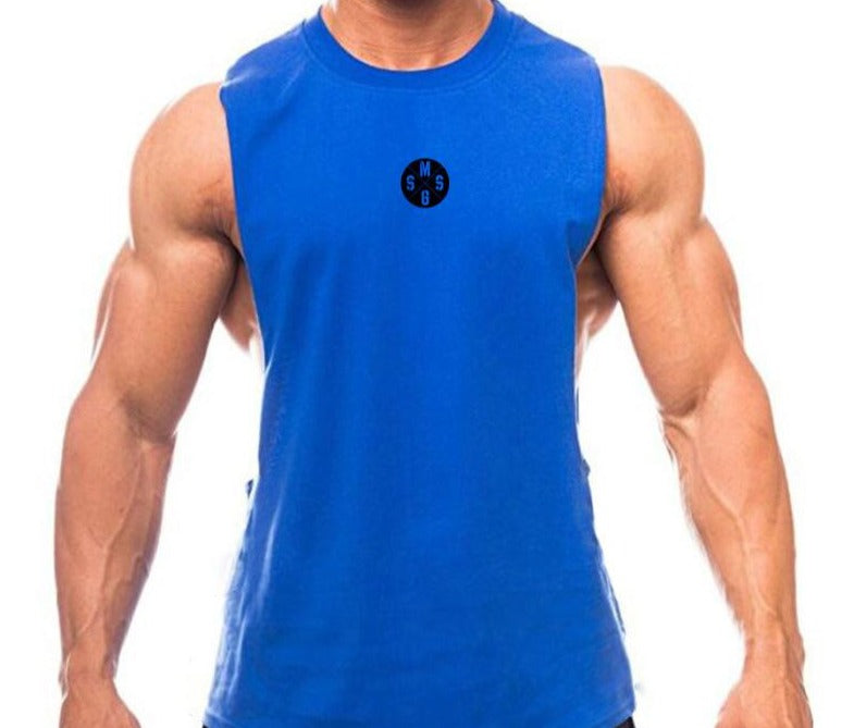 Breathable Plain Dyed Men's Sport Sleeveless Top