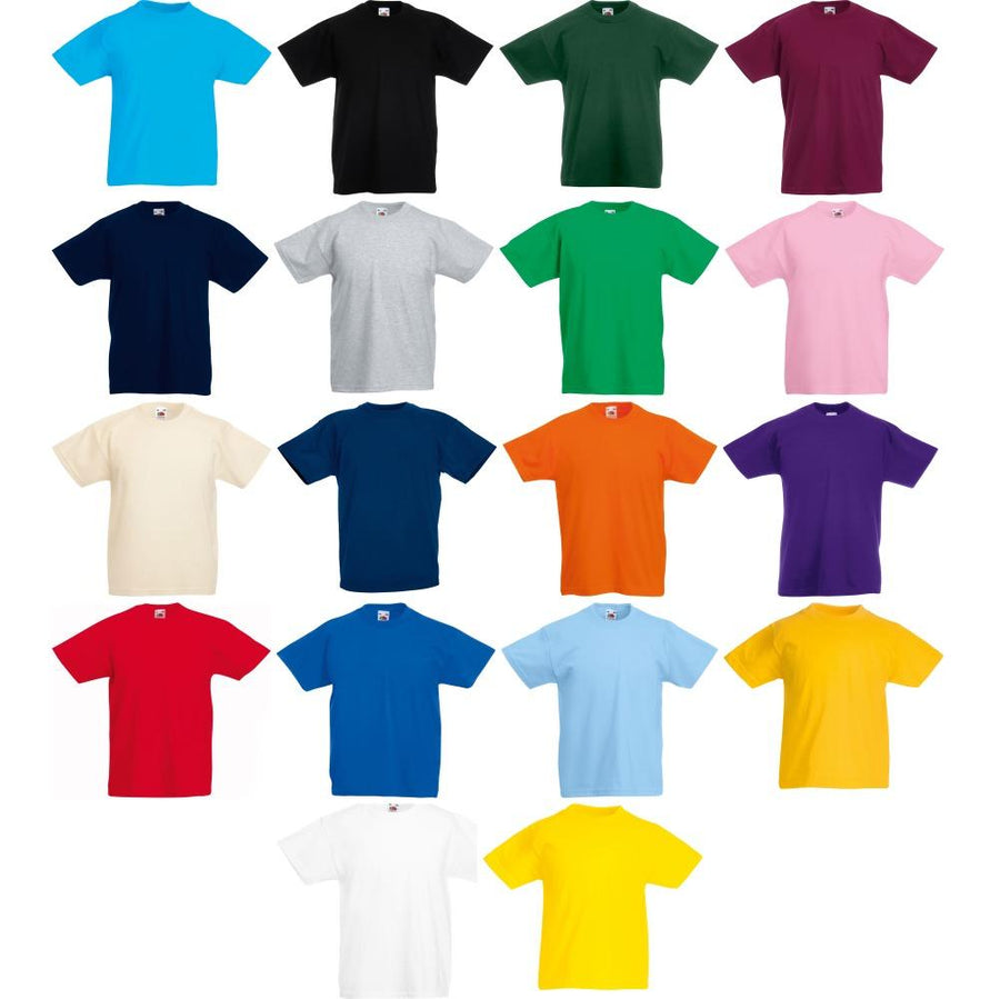 Children's Plain Unisex Tshirts