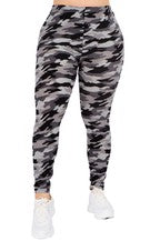 Camo Print Leggings Black