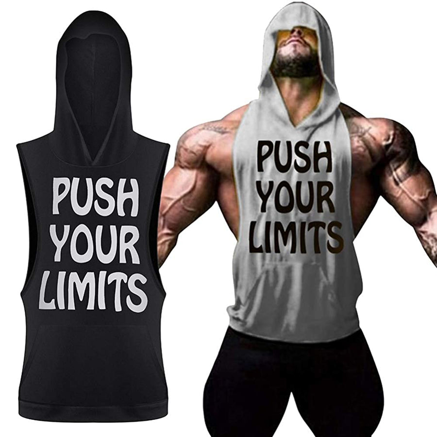 Push Your Limits Mens Athletic Hooded Tank