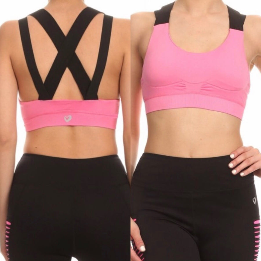 Pink/Black Bra Top