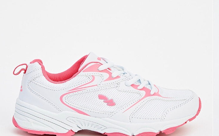 White/pink trainers