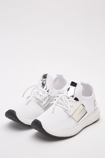 White/Silver Trainers