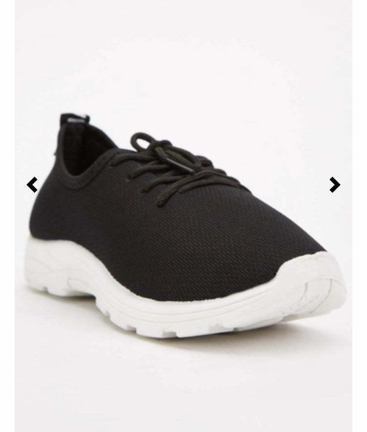 Big Size Black Trainers