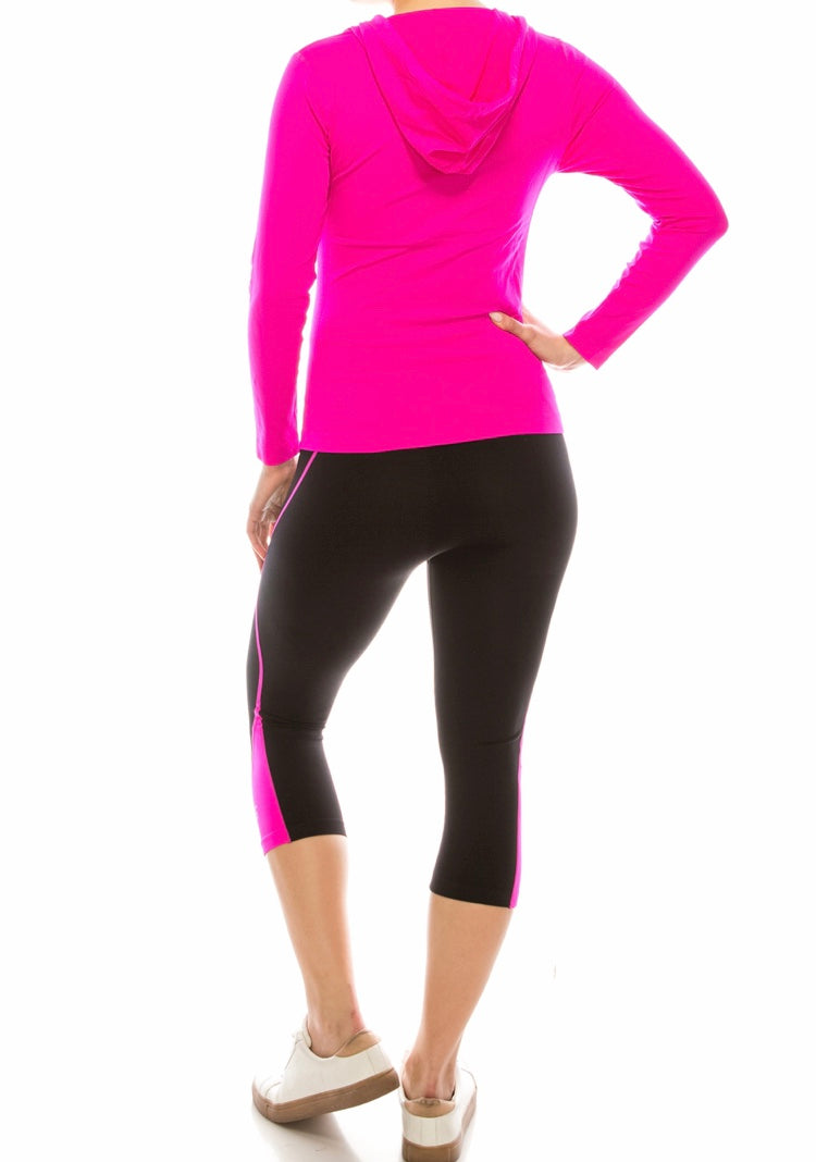 Seamless jacket with pants set Pink
