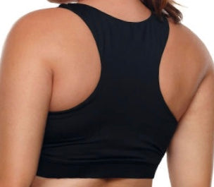 Black Racerback U-shaped Neck Sport Bra