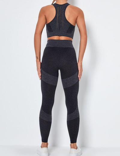 Padded vest tight yoga sports stretch two-piece set