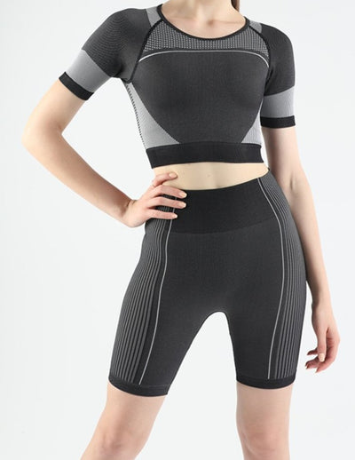 Hollow out yoga sports two-piece set