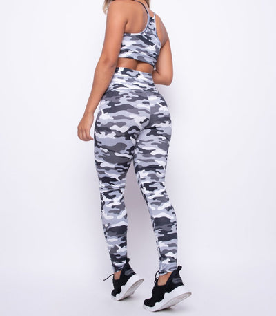 Grey Camo Brazilian Fitness Set