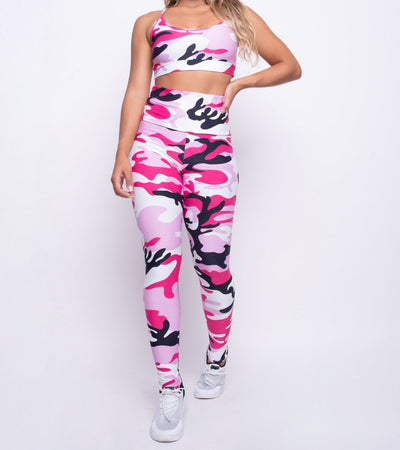 Rose Camo Brazilian Fitness Set