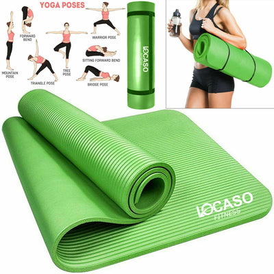 Yoga Mat for Pilates Gym Exercise Carry Strap Thick Large Comfortable Mats